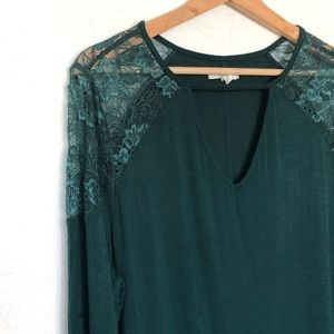 Maurices Forest Green Blouse Plus Size